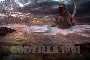 Godzilla in the Rain! by WoGzilla