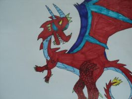 Blice the Fire Dragon by Carnage-Kitsune