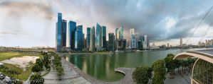 Skyline of Singapore CBD by chaoticbusher