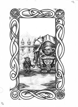 Goblin Tarot - Minor Rank 25 by vulpinoid