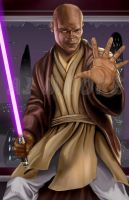 Mace Windu - by AJ Moore by GudFit