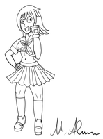 Schoolgirl-Fighter (Lineart Practice) by Paragon-Yoshi