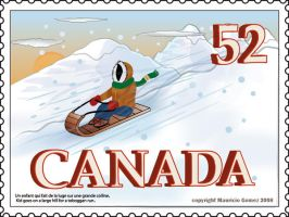 Canada Post Stamp by Insanemoe
