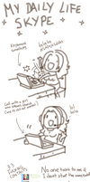 Beta chan daily life SKYPE by Betachan