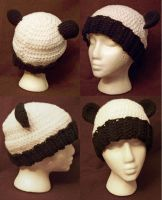 Ribbed Panda Beanie by user-name-not-found