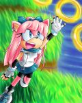 Commish - Amilia Jumping for the rings by Sonicbandicoot