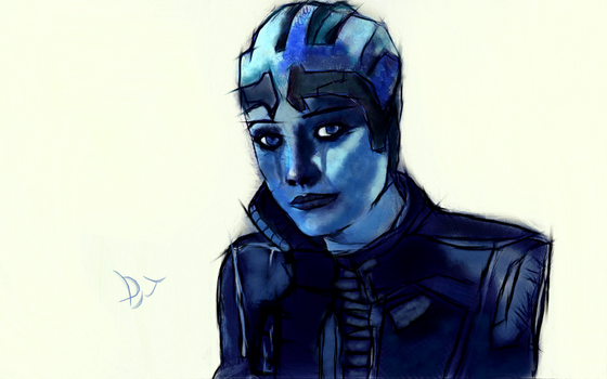 Liara Crying by DjTrecool