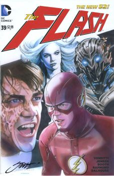 Savitar, Evil Barry and Killer Frost vs. The Flash by SteveStanleyArt