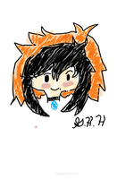 MY FIRST TABLET DRAWING!!!! by Ask-Kit-The-Pirate