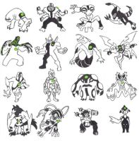 Ben 10 Aliens by 4elementGURU