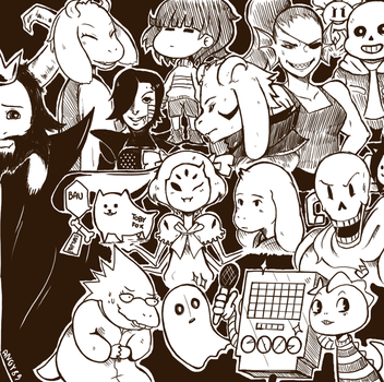Undertale characters sketch by Angy89
