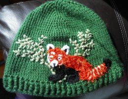Red Panda Hat by JenniferElluin