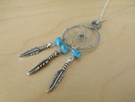 Turquoise Dreamcatcher Pendant by Adavlys