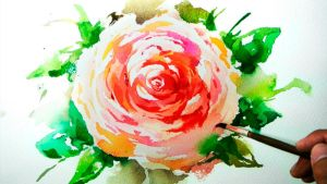 Watercolor Painting - Ranunculus Flower by JayArtPainting