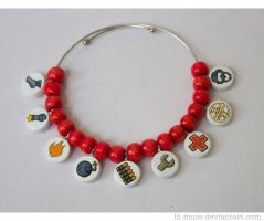 RED Team Bracelet by Lil-Muse