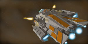 USSN Humpback Frigate by ponyus94