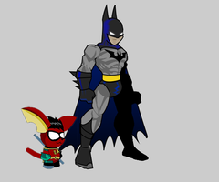 Batman and Robin AQWorld-Style! by Xaayer