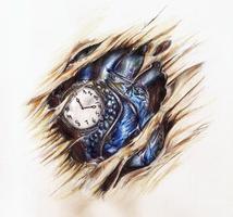 ClockHeart- Tattoo Design by HisakiChan