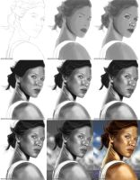 Painting Kate Austen from Lost by hugyucom