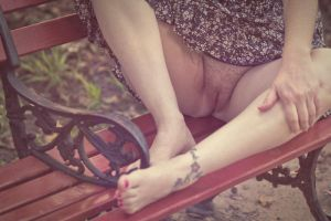 Beauty On A Bench by FromMyCamera
