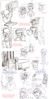 Hotel Haven Post-Mortem Sketchdump by Spookybelle