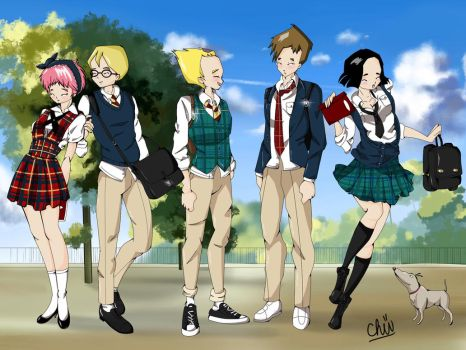 School Daze by toastedCroissants