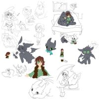 HTTYD unfinished scraps by J-C-P