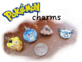 Pokemon Charms by CatCowProduce