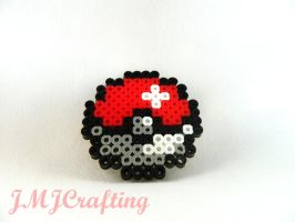 ~Pokeball Perler Bead Art~ by aselga