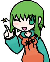 Gumi winking by ZombiedevilXD