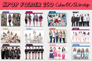 KPOP Folder Icons - DSP CUBE STARSHIP (Pack) by vaguevashti