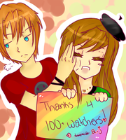 + Thanks for 100+ watchers + by AmuletJoker