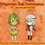 Halloween themed Chibi Commissions ENDED by SOTDcorp