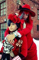 Madam red and Ciel Phantomhive by SaaraZ