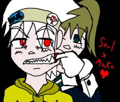 Maka and Soul...Hurting love by general-pyroh-eteam