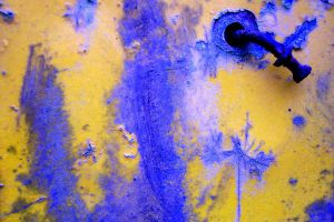 Yellow and Blue Rust Stock by paintresseye