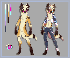 African wild dog character design by NPC-Dion