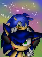 monty and sonic by GamistTH