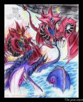 Battle of the 3 Serpent Gods by slifertheskydragon