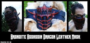 Brnozite Dragon Assassin Mask by Epic-Leather