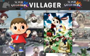 Super Smash Bros. Wallpaper - Villager (With Art) by HylianLuke