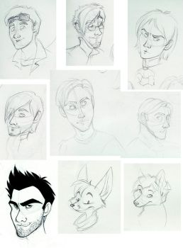 People doodles 1-08 by spiritwolf77