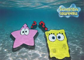 Sponge Bob and Partick Star by sloopsalvador