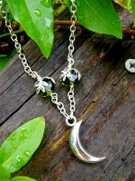 Artemis Crescent Moon Necklace by EireCrescent