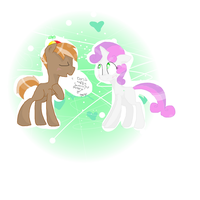 Sweetie Belle And Button Mash ship by sundaeswirl