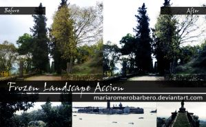 Frozen Landscape Action (photoshop) by mariaromerobarbero