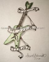 Green Dean Guitar by GrotesqueDarling13