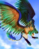 griffin in da sky by PieMutt