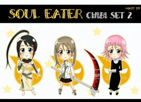 SoulEater_chibi_set2 by NiKitt-twin