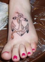 foot tattoo by swisschz